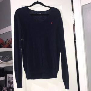 """Polo V-Neck """"Boyfriend"""" Sweater"""